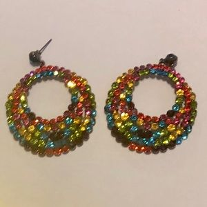 Rainbow Bling Earrings